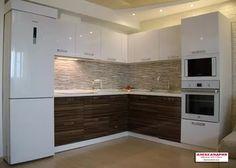 дизайн кухни по одной стене с холодильником: 26 тыс изображений найдено в Яндекс.Картинках