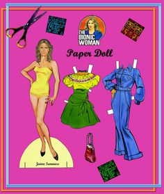 Jaime Sommers paper dolls / eBay