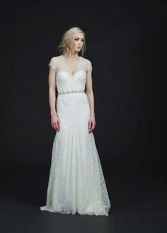 sweetheart neckline wedding dress with lace overlay