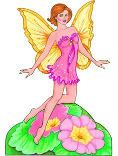 free printable fairy paper doll and costume