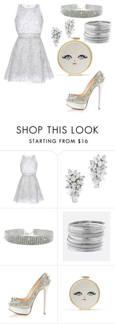 """see thru"" by babitadarlami ❤ liked on Polyvore featuring LUISA BECCARIA, Avenue, Christian Louboutin, clear and Seethru"