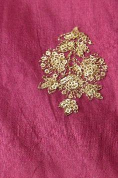 dupion art silk magenta pink fabric