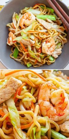 Chow Mein Noodle Recipe, Chicken Chow Mein Recipe Easy, Shrimp Noodles, Egg Noodles, Chinese Egg, Chinese Food, Oriental Recipes, Asian Recipes, Shrimp Recipes For Dinner