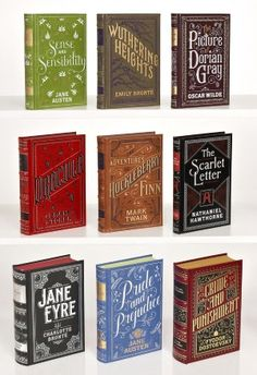 Classic Novels 9 Volume Collection (Barnes & Noble Leatherbound Classics), typography by Jessica Hische