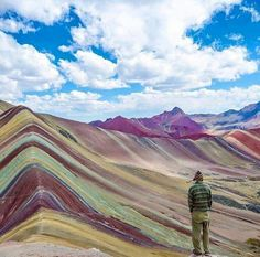 Rainbow mountain Perou