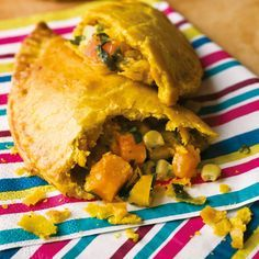 Levi Roots sunshine patties Sunny vegetable patties recipe By Levi Roots Serving instructions Serves 4 Carribean Food, Caribbean Recipes, Barbados, Negril Jamaica, Levi Roots, Jamaican Patty, Vegetarian Recipes, Cooking Recipes, Cooking 101