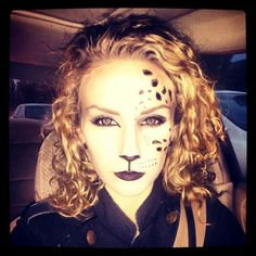 Leopard Halloween Costume Makeup for Freaknight 2013 Dress Up Costumes, Cool Costumes, Leopard Halloween, Halloween Makeup, Halloween 2015, Christmas Makeup, Rave Outfits, Costume Makeup, Good Skin