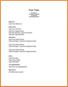 Basic Resume Outline Sample httpwwwresumecareerinfobasic