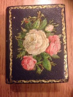Victorian Needle Case Antique Pretty Floral Decoupage Lovely Book Flowers