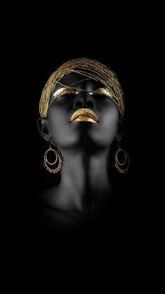Black woman africa art canvas painting,custom poster prints,modern home decoration wall pictures,dropshipping cheap canvas print - Linh's Corner Black Women Art, Black Art, African Beauty, African Women, Cheap Canvas Prints, Or Noir, Art Africain, Africa Art, Black Gold Jewelry