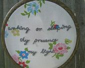Flowers and Hymn Embroidery - 4.5 in