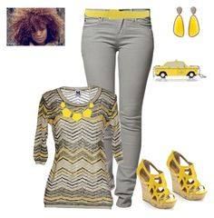 """""""Yellow and Grey"""" by smith-1979 ❤ liked on Polyvore featuring Peoples Market, M Missoni, Maison Margiela, Christina Debs, Kate Spade, women's clothing, women, female, woman and misses"""