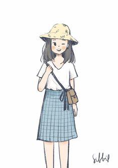 Cartoon Art Styles, Cute Art Styles, Arte Sketchbook, Dibujos Cute, Fanarts Anime, Cute Cartoon Wallpapers, Kawaii Wallpaper, Kawaii Art, Anime Art Girl