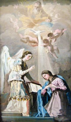 Francisco Goya Painting - The Annunciation 1785 Francisco de Goya Spanish Painters, Spanish Artists, Francisco Goya Paintings, Francisco Jose, Saint Esprit, Archangel Gabriel, Beauty In Art, Blessed Mother, Sacred Art