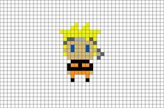 Naruto Uzumaki Pixel Art from BrikBook.com #NarutoUzumaki #Naruto #ninja #TeamSeven #HiddenLeafVillage #pixel #pixelart #8bit    Shop more designs at http://www.brikbook.com