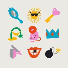 Leo Emoji Art Print by aleyhanson Type Illustration, Illustrations, Kids Graphics, Doodle Tattoo, Types Of Lettering, Vector Art, Original Art, Character Design, Artsy