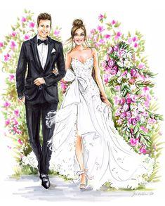 Wedding Cards Handmade, Wedding Gifts For Groom, Wedding Attire, Wedding Couples, Wedding Dresses, Wedding Dress Sketches, Bride Groom Photos, Wedding Illustration, Wedding Art