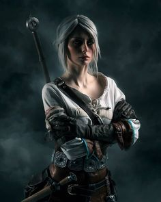 Witcher Art, The Witcher 3, Geralt Of Rivia, Ciri, Zyra League Of Legends, Vampire The Masquerade Bloodlines, Cosplay Characters, Fantasy Girl, Cosplay Costumes