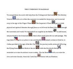 Underground Railroad Extra - Design -explanition