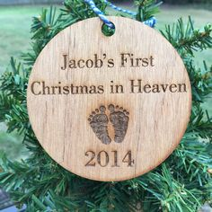 Personalized Baby's First Christmas in Heaven Ornament - Loss of ...