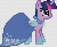Twilight Gala My Little Pony perler bead pattern