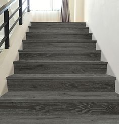 Matching Stair Tread + Riser - Lucida Surfaces Standard Staircase, Beach Stairs, Stair Risers, Luxury Vinyl Tile, Design Development, Home Collections, Plank, How To Memorize Things, Surface