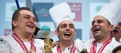 Emmanuele Forcone, Francesco Boccia et Fabrizio Donatone Iginio Massari, 14<sup>e</sup> édition de la Coupe du monde de pâtisserie. © DRG Comunicazione
