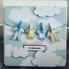 Congrats card for twins