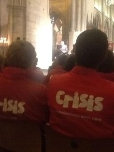 Crisis Annual Christmas Carol Service (40th Anniversary) @ Southwark Cathedral.