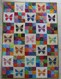 Butterfly Baby Quilt Free Pattern