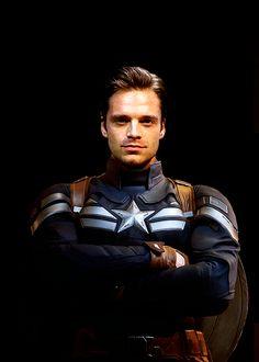 Bucky, get out of Steve's uniform.
