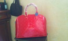 Louis Vuitton Alma(large) cherry red.$299+FREE shipping+on-line payment