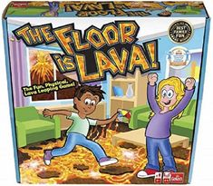 The Floor is Lava! is a complete classic and Goliath Games have turned it into a fabulous board game for kids and adults. Another one to get you moving, it is a game that turns any living room, garden, or bedroom floor into a lava jumping adventure. Designed with colourful, non-slip stepping stone pads, kids and adults can jump, leap, and twist their way to safety through physical activity, imagination, and pure fun! And remember, don't touch the floor! 2-6 players, for indoor and outdoor play. The Floor Is Lava, Board Games For Kids, Hanukkah Gifts, Christmas Gift Guide, Christmas Gifts, Festival Lights, Interior Exterior, Family Games, Physical Activities