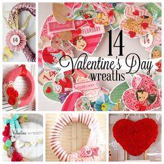 14 Valentine Wreaths #decor #diy #wreath
