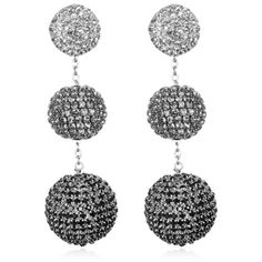 Women's Suzanna Dai Rhinestone Gumball Drop Earrings (290 CAD) ❤ liked on Polyvore featuring jewelry, earrings, gunmetal ombre, suzanna dai jewelry, ombre jewelry, rhinestone stud earrings, sparkle jewelry and ombre earrings