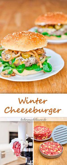 Winter-Cheeseburger {homemade burger}