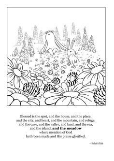 Blessed Is The Spot Coloring Page 13