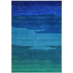 """Festival TAS2025 5'x7'3"""" Blue and Green Area Rug ($539) ❤ liked on Polyvore featuring home, rugs, green area rugs, coloured rug, blue area rugs, colored rugs and blue green rug"""