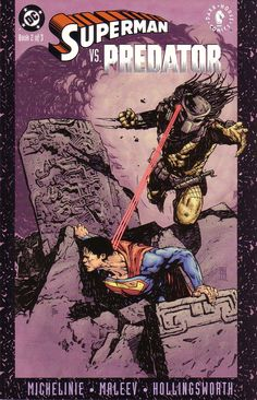 Superman vs Predator by Alex Maleev