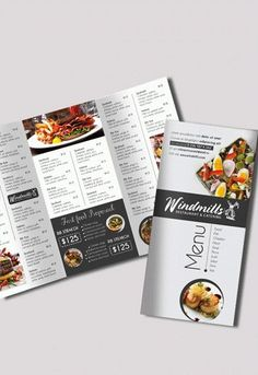Tri Fold Menu Template - Tri Fold Menu Template , Template Brochure for Restaurant – by Elegantflyer Menu Restaurant, Restaurant Menu Template, Cafe Menu, Restaurant Identity, Brochure Food, Brochure Design, Brochure Template, Brochure Ideas, Business Brochure