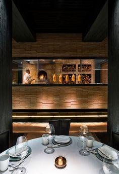 Restaurant Design for Jing Yaa Tang — Johannes Torpe Restaurant Lounge, Restaurant Design, Peking Duck Restaurant, Kitchen Pass, Ping Pong Table, Lighting Design, Kitchen Appliances, Kitchens, Dining