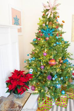 Fun whimsical Christmas tree + home tour