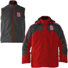 St. Louis Cardinals 4-3 Defense Full Zip 3-In-1 Jacket - Red/Gray