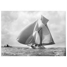 Classic Sailing Yacht Suzanne, 1911- Edition of 50    From a unique collection of black and white photography at https://www.1stdibs.com/art/photography/black-white-photography/
