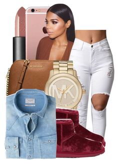 """Something that you never had"" by ayeeitsdessa ❤ liked on Polyvore featuring NARS Cosmetics, MICHAEL Michael Kors, Michael Kors, UGG Australia and MANGO"