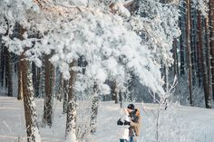 winter love story, winter forest