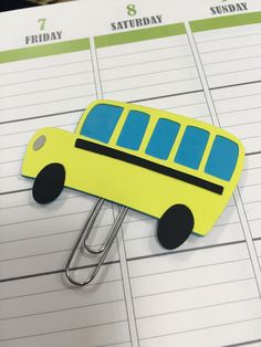 Bus planner clip by StefsPlace on Etsy