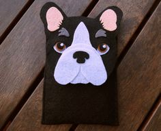 French Bulldog iPhone Case Dog Felt Phone Cover by LayonStore