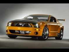 Yellow Ford Mustang GT HD Backgrounds