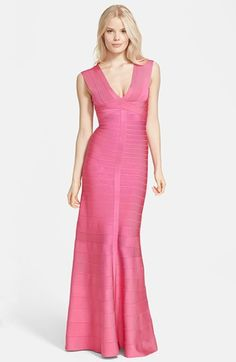 Herve Leger Bandage Mermaid Gown available at #Nordstrom